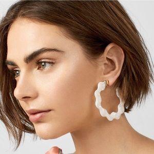 New Deena Resin Waved Hoop Earrings by BaubleBar!